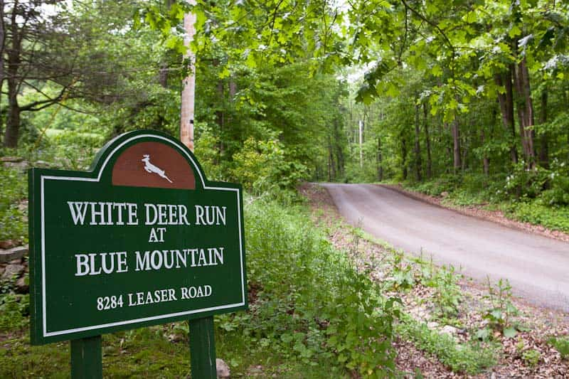 White Deer Run of Blue Mountain exterior sign